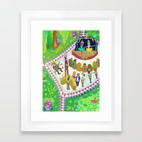 Half time at the ballet Framed Art Print