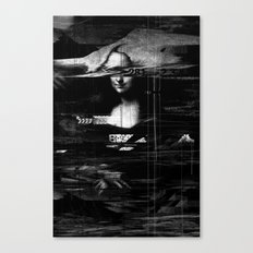 Mona Lisa Glitch Canvas Print