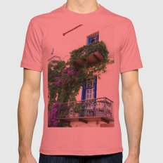 Chania Old Town View Mens Fitted Tee Pomegranate SMALL