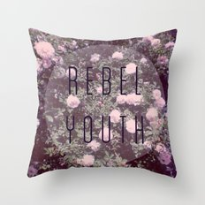 Rebel Youth Throw Pillow