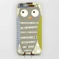 Grey Whimsy Owl iPhone 6 Slim Case