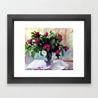 Rose Vase Still Life Framed Art Print