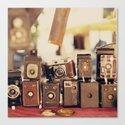Old Cameras (Vintage and Retro Film Cameras Collection) Canvas Print