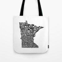 Typographic Minnesota Tote Bag
