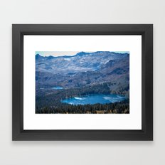 Mountain Top Lakes Framed Art Print