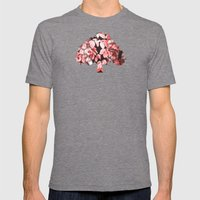Red leaves Mens Fitted Tee Tri-Grey SMALL