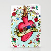 Botanical Heart Illustration Stationery Cards