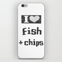 I ♥ Fish And Chips - D… iPhone & iPod Skin