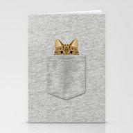 Pocket Tabby Cat Stationery Cards