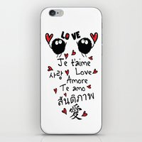 Love In Many Language iPhone & iPod Skin