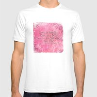 Love is a Devil - Shakespeare Love Quote Art Mens Fitted Tee White SMALL