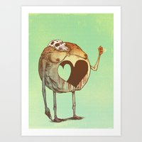 Round Love Art Print