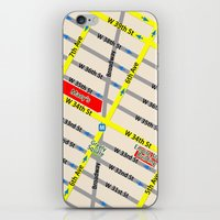 New York map design - empire state building area iPhone & iPod Skin