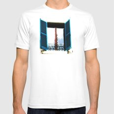 Window to the Present White Mens Fitted Tee SMALL