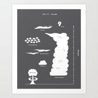Know your clouds! Art Print