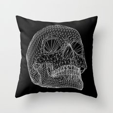 Vector Skull Throw Pillow