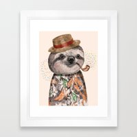 Mr.Sloth Framed Art Print