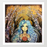 Winter Angel Art Print