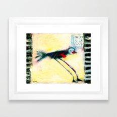 SATELLITE OF LOVE Framed Art Print