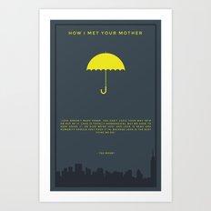 How I Met Your Mother - Yellow Umbrella Art Print