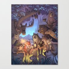 Forest Story / illustration Canvas Print