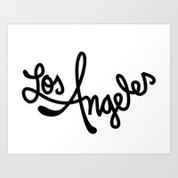Los Angeles, Hand-Lettered Art Print