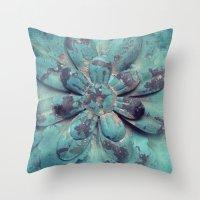 Tin Flower Throw Pillow
