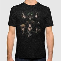 Attack On Titan  Shingek… Mens Fitted Tee Tri-Black SMALL