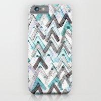 ZigZag Blue iPhone 6 Slim Case