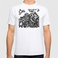 Mountain of Dreams Mens Fitted Tee Ash Grey SMALL
