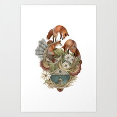 House of Fox // Polanshek Art Print