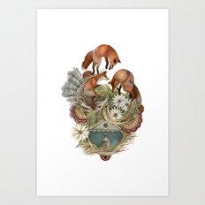 House of Fox // Polanshek Art Print