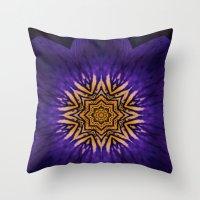 my purple flower Throw Pillow