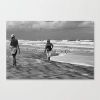 Daily Life at the Beach Canvas Print