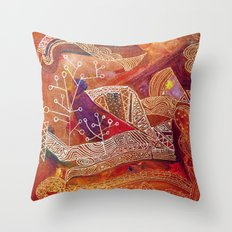 golden maze Throw Pillow