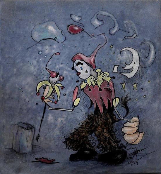 Night Clown Art Print