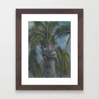 Blessed Shade-Palm Tree … Framed Art Print