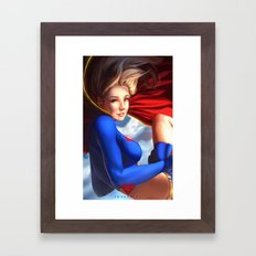 Supergirl Framed Art Print