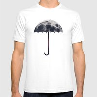 Space Umbrella II Mens Fitted Tee White SMALL