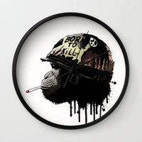 Born To Kill Wall Clock