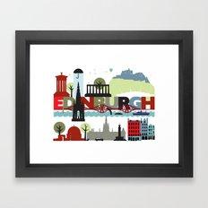 Edinburgh landmarks & monuments  Framed Art Print