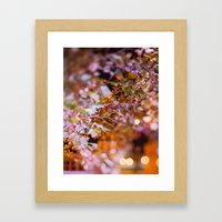 Nature and light abstract Framed Art Print