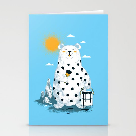 polka bear Stationery Card
