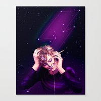 Bowie Amongst the Stars Canvas Print