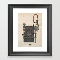 Ghostbusters 2016 Proton Pack and Necklace Framed Art Print