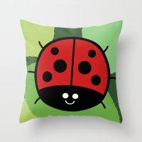 Cutesy Crawlies — Lady… Throw Pillow