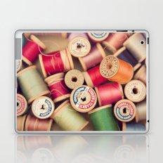 vintage spools Laptop & iPad Skin