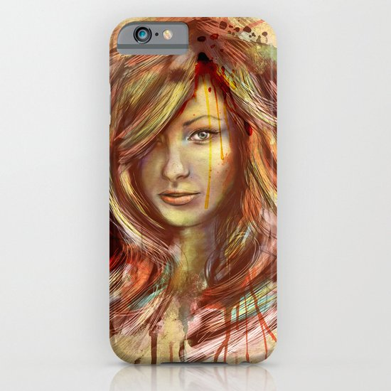 Olivia Wilde Digital Painting Portrait iPhone & iPod Case