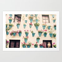 Flowerpots Art Print