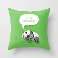 Panda Pun Throw Pillow
